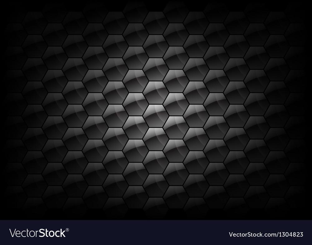 Hexagon background grey vector