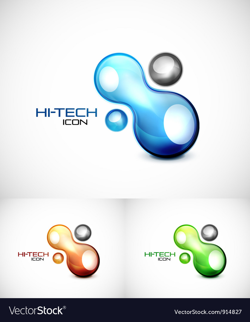 Liquid abstract icon vector