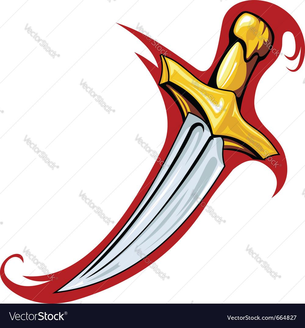 Medieval dagger vector