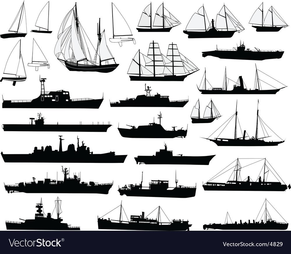 Boats vector