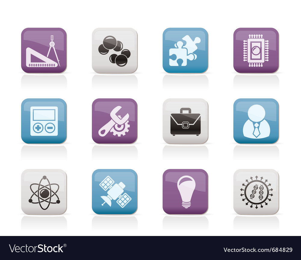 Science and research icons vector