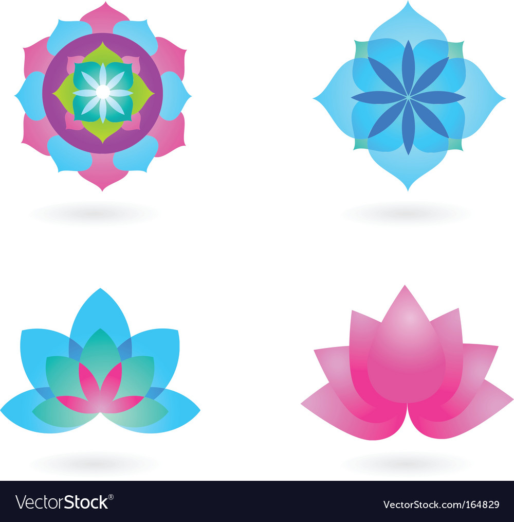 Yoga backgrounds vector