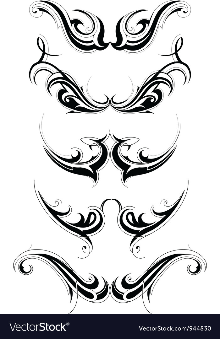 tattoo tribal vector download Download  Floral vectors tattoo   art set vector Tribal  944830