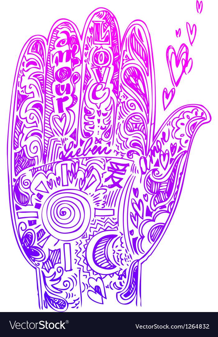 Hand sketched doodles vector