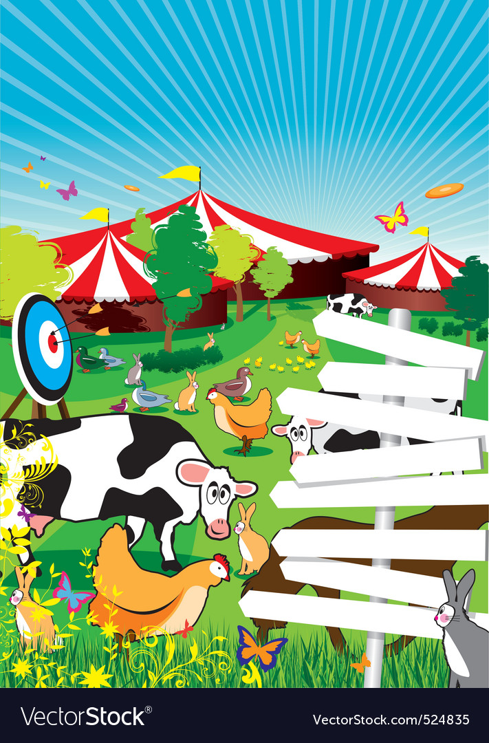 Country fair background vector