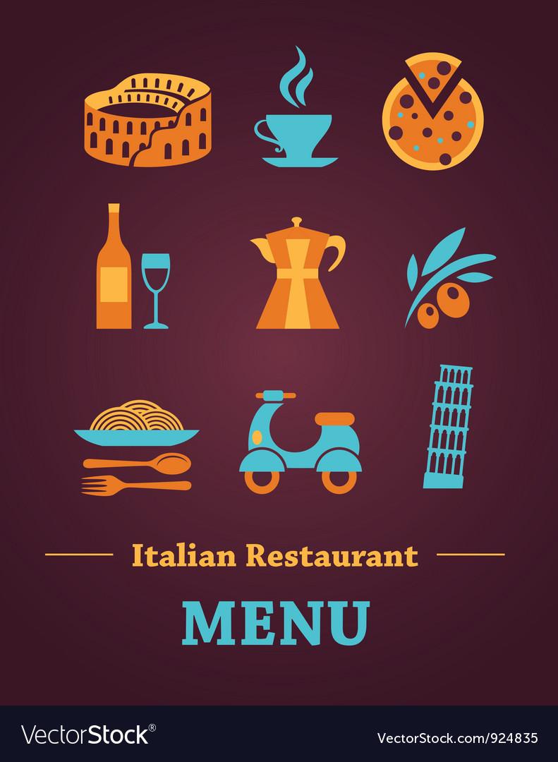 Italian restaurant menu design vector