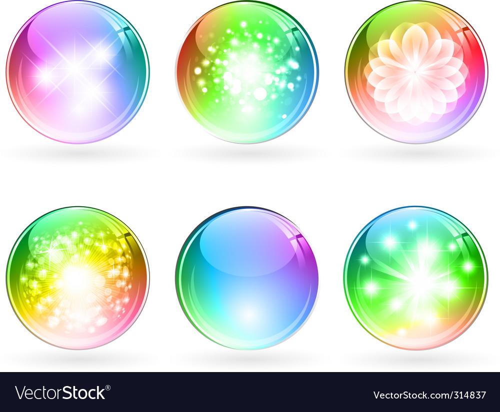 Multicolored balls vector