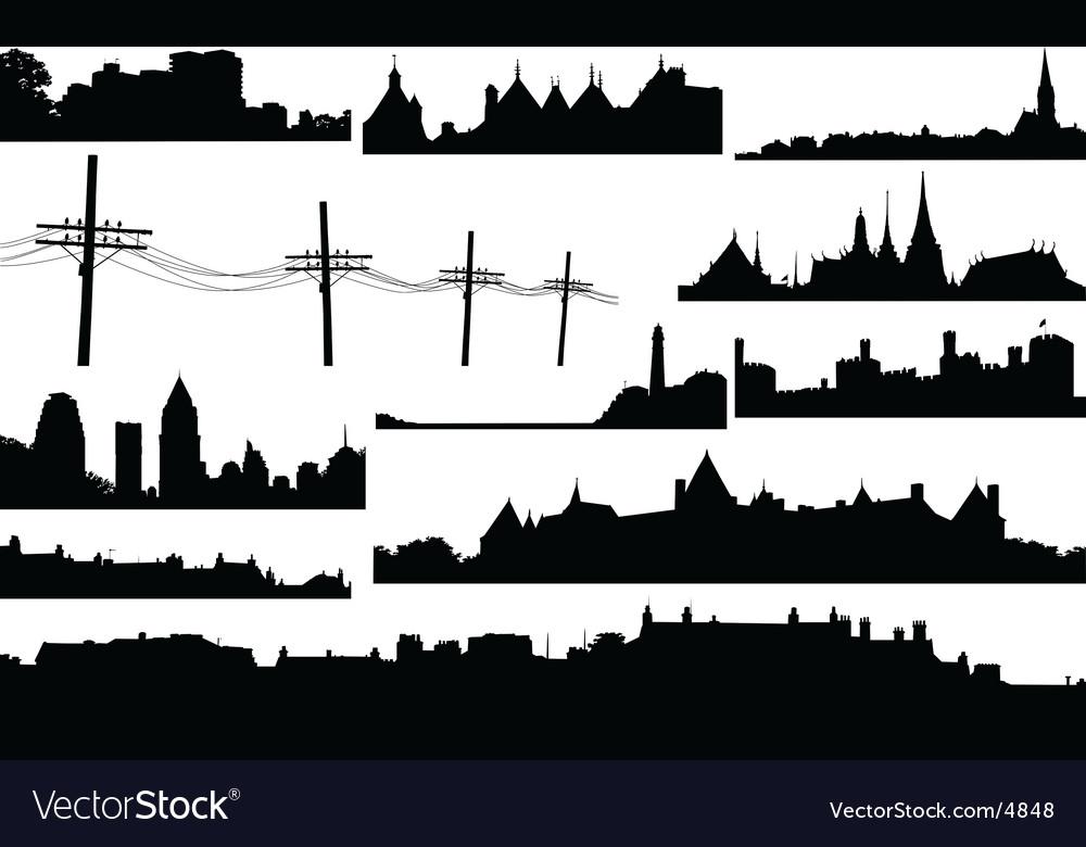 Skylines vector