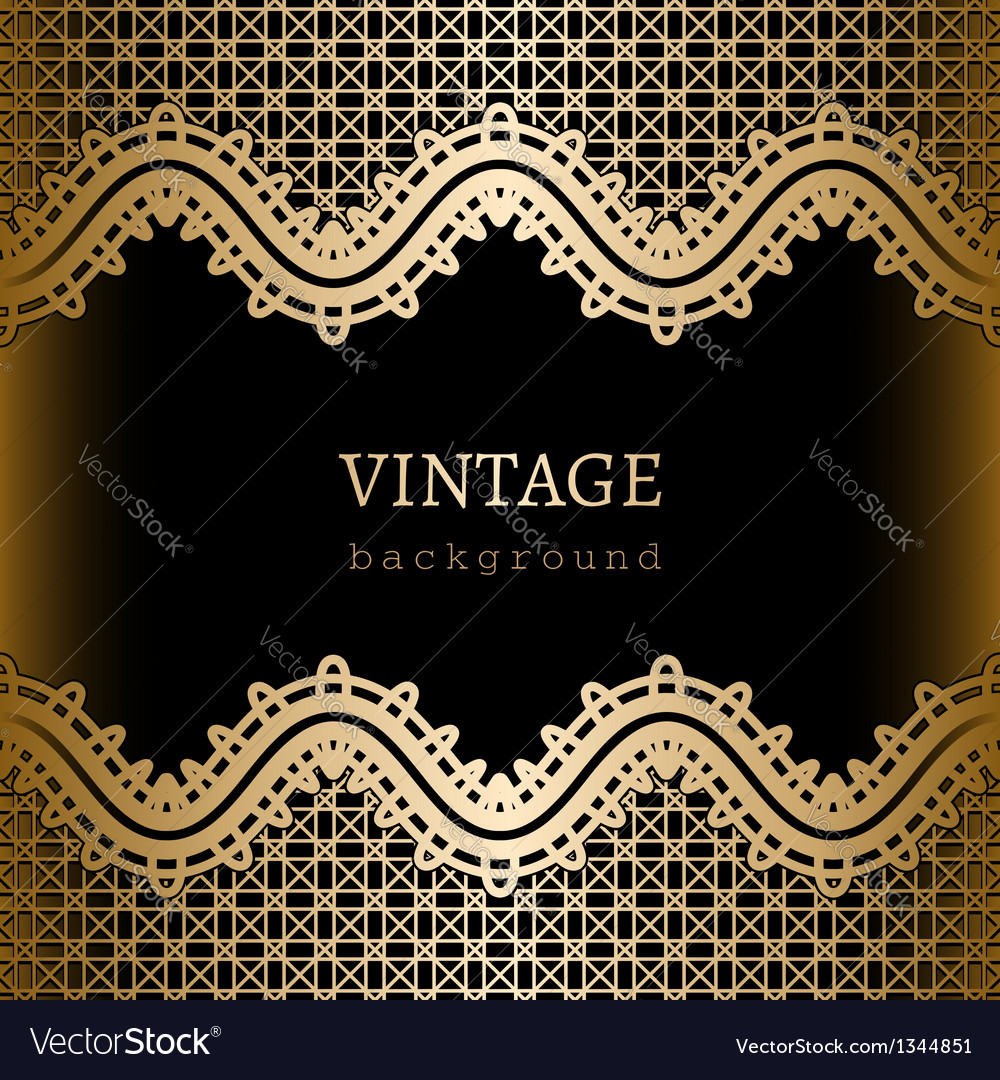 Gold lace background vector