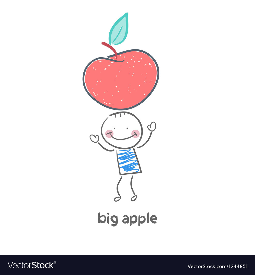 Man and apple vector