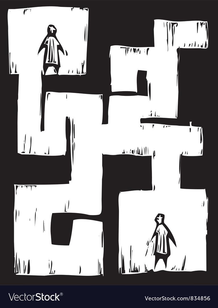 Maze people vector
