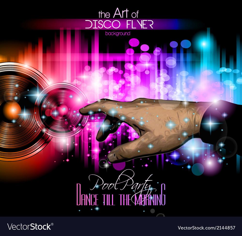 The art of disco flyer vector