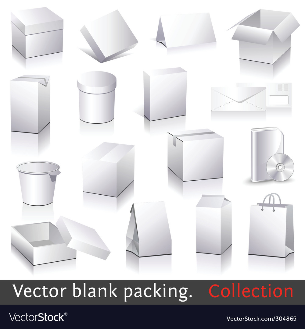 Blank packing vector