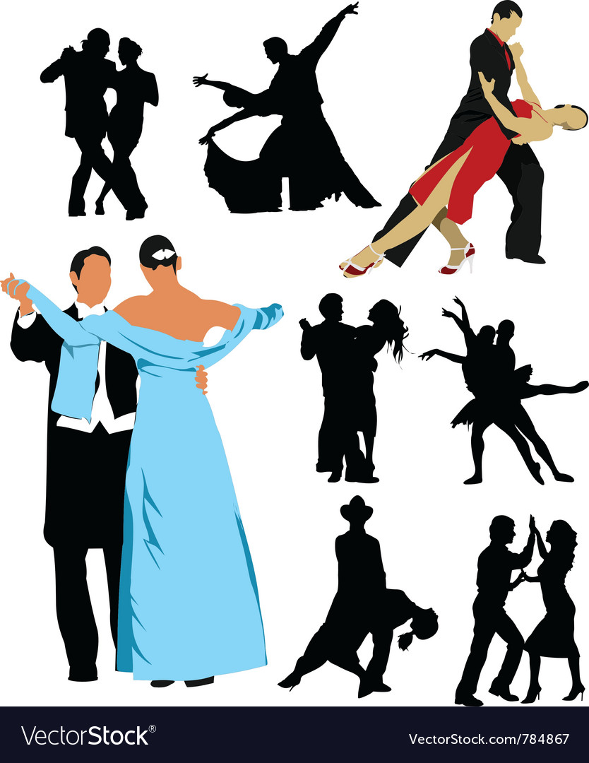 Ballroom dancing vector