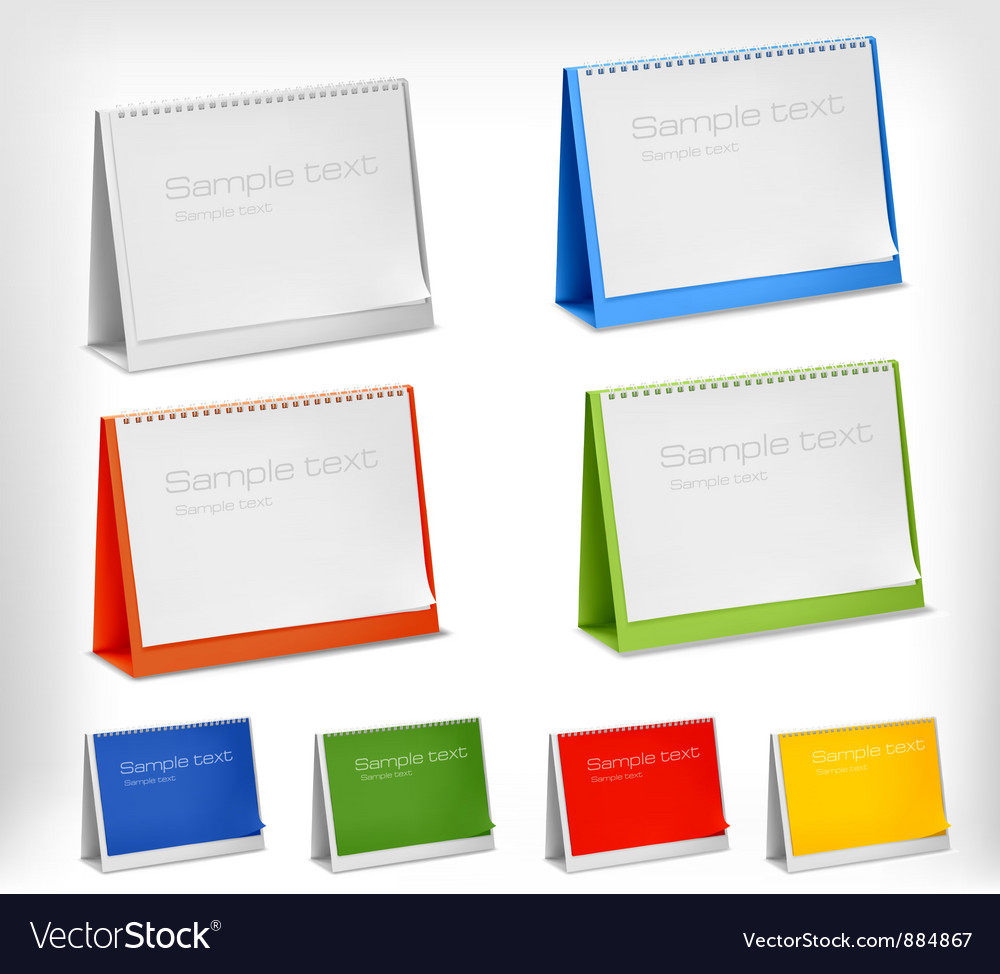 Blank desktop calendars vector