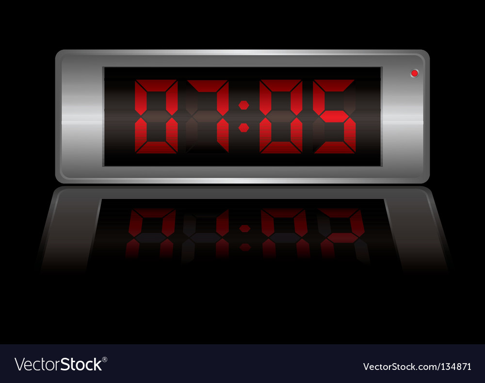 Digital alarm clock vector