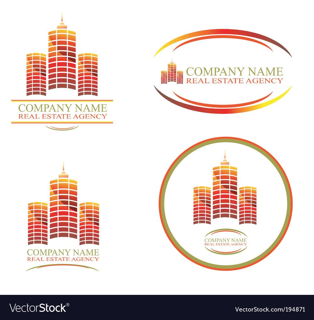 Real estate design elements vector