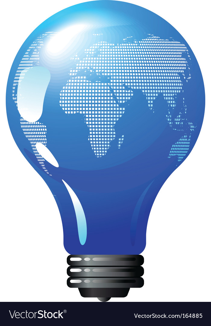 Environmental concept light bulb globe vector