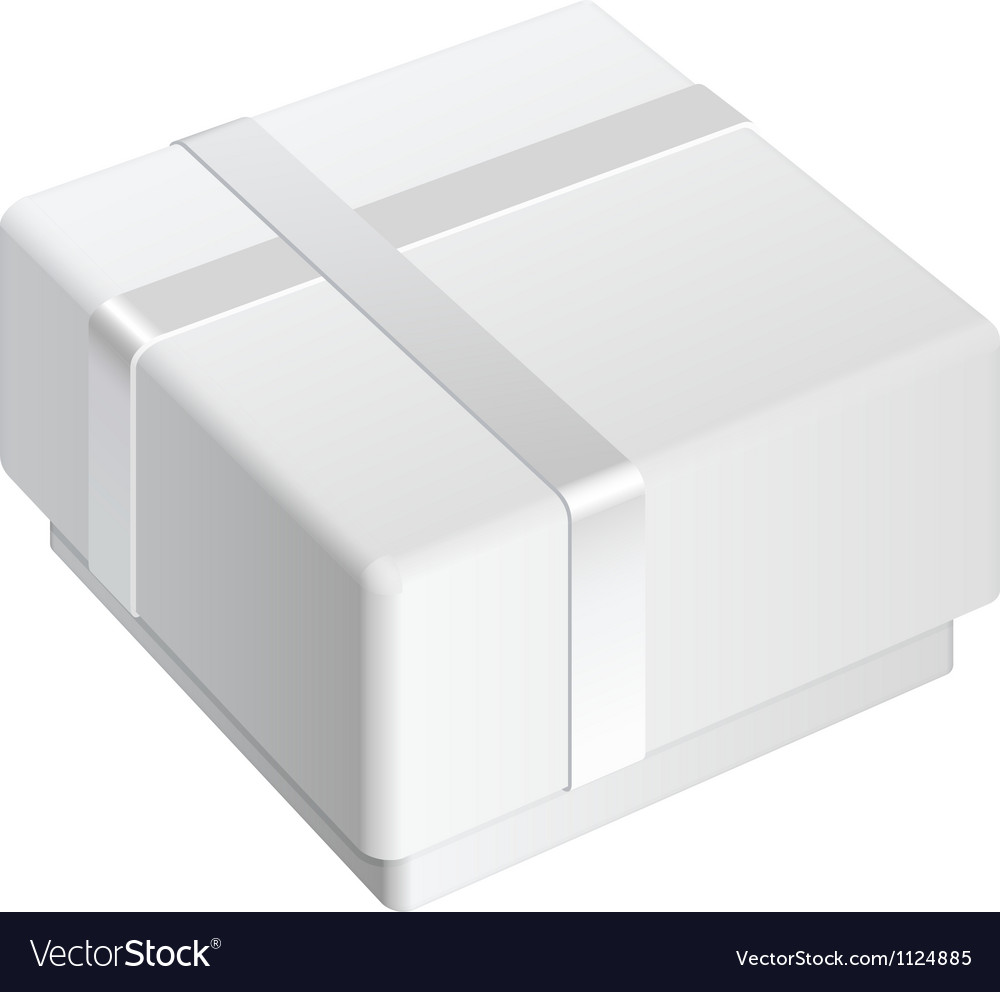 White blank package box for gift vector