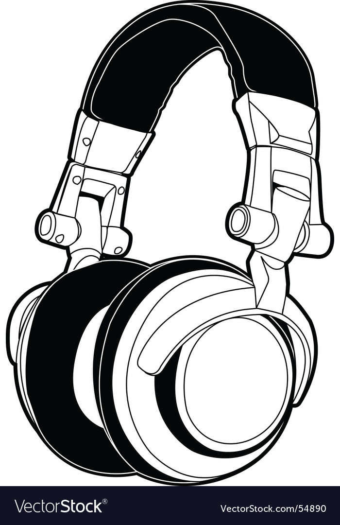 Dj headphones vector