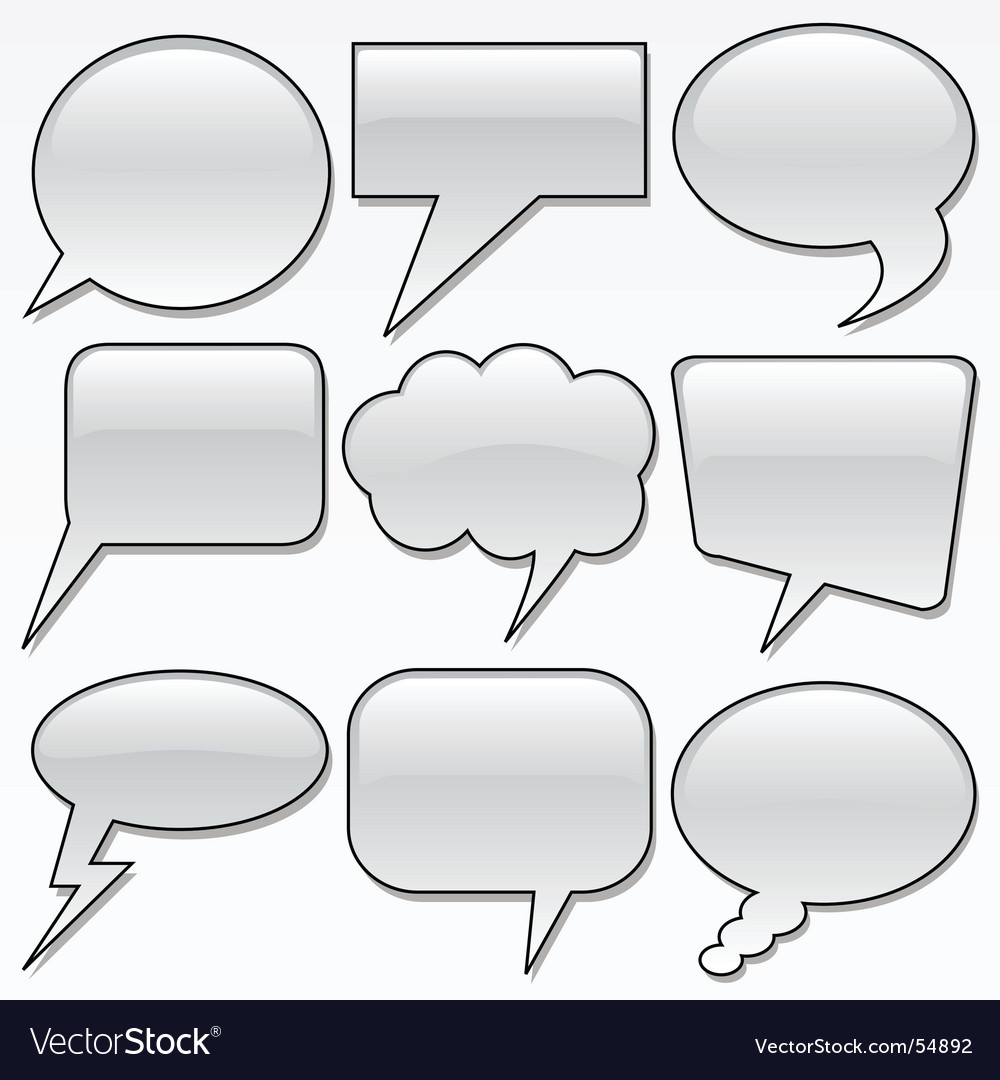 Dialog bubbles vector