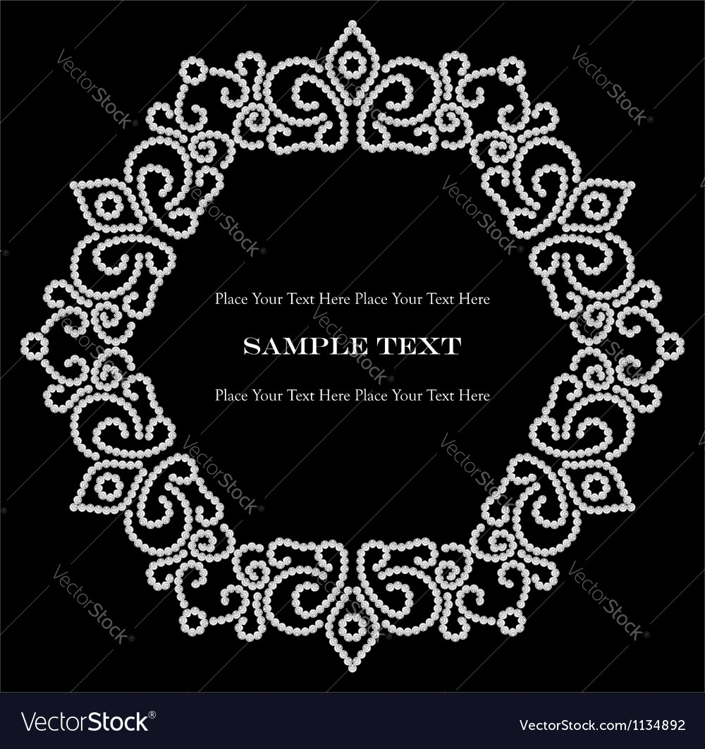 Jewelry vignette vector