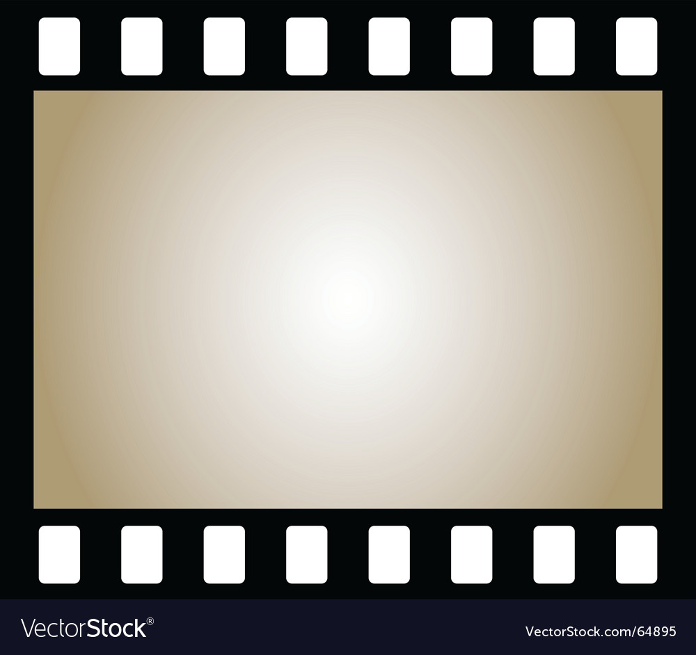 Negative photo film vector