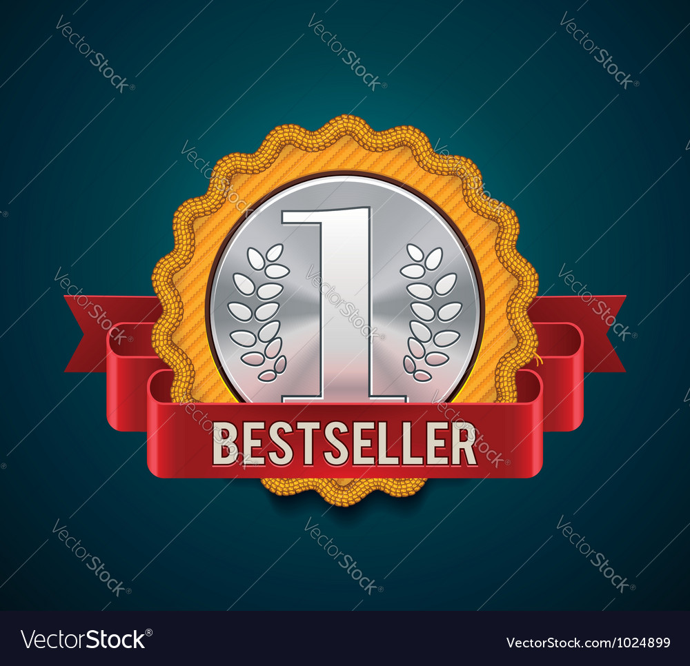 Bestseller badge vector