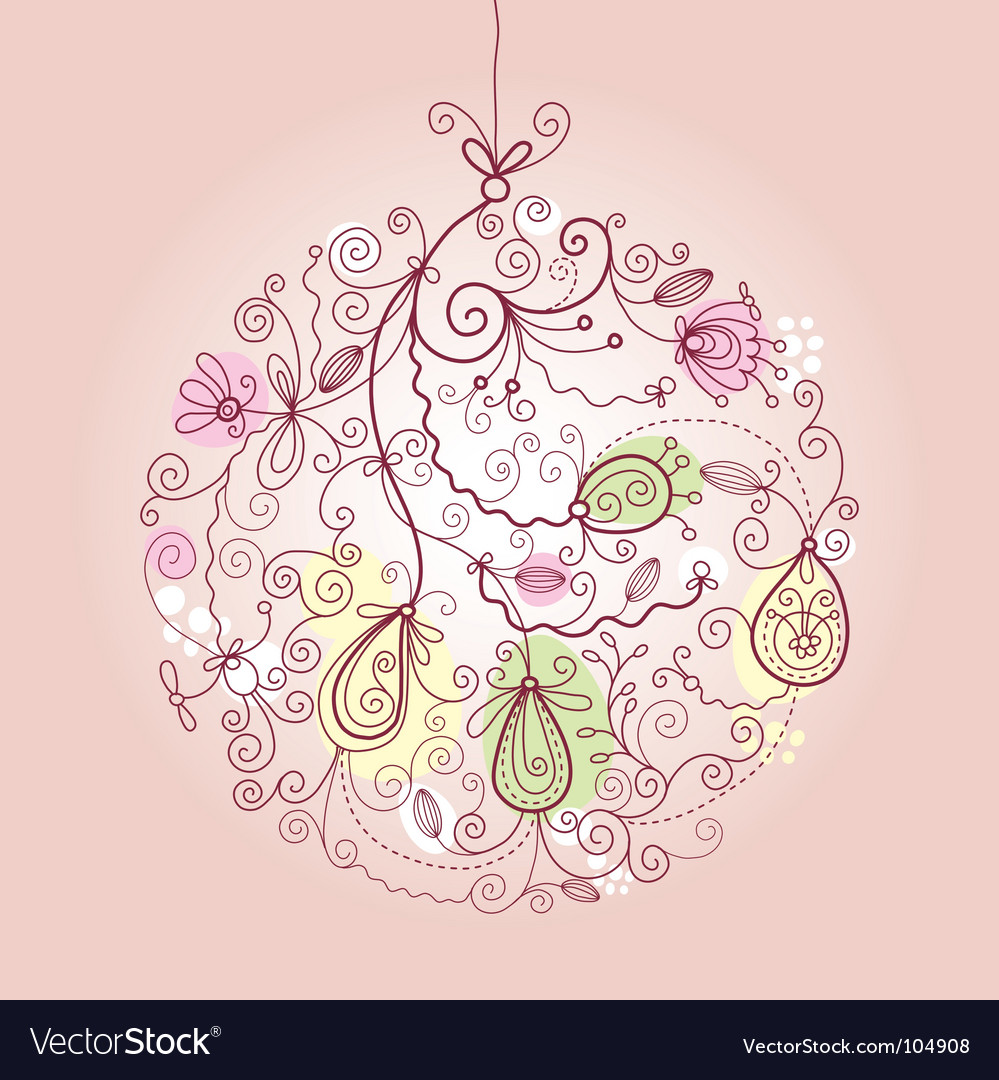 Christmas ball ornaments vector
