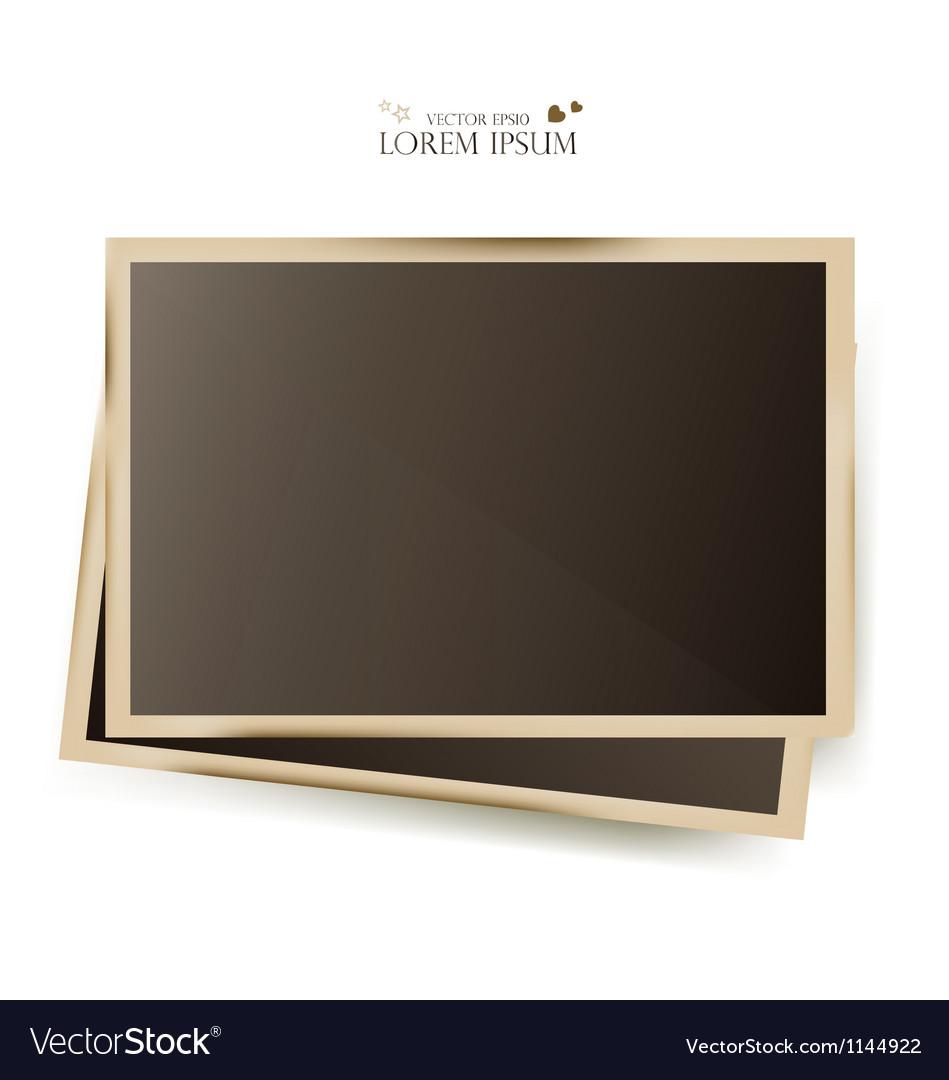 Photo slides frame vector
