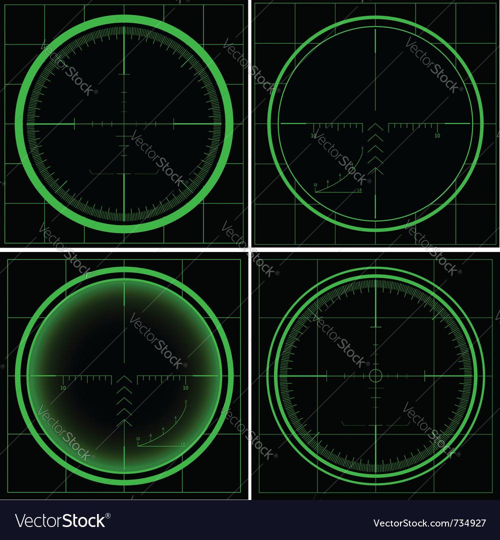 Radar screen or sniper sight vector