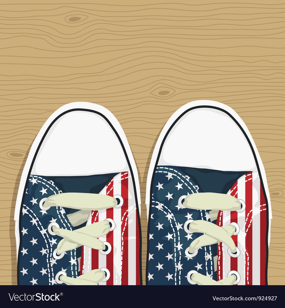 Usa shoes vector