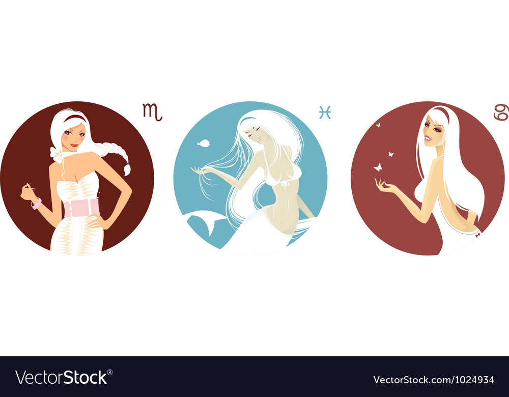 Free horoscope set vector