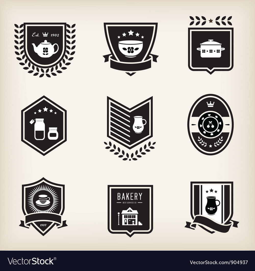 Kitchen badges vector