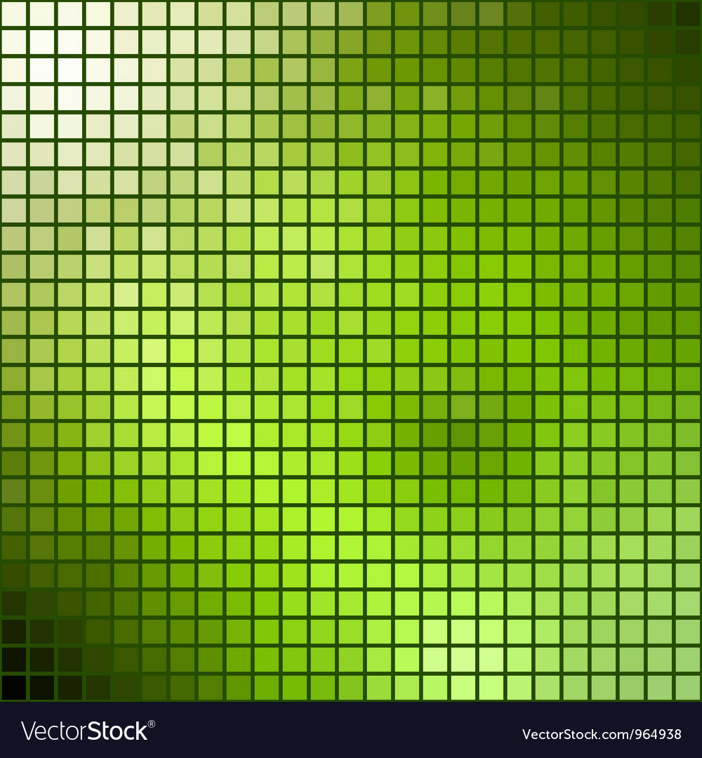 Green mosaic summer theme template vector
