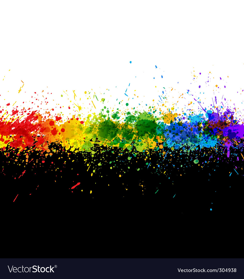 Paint splashes vector