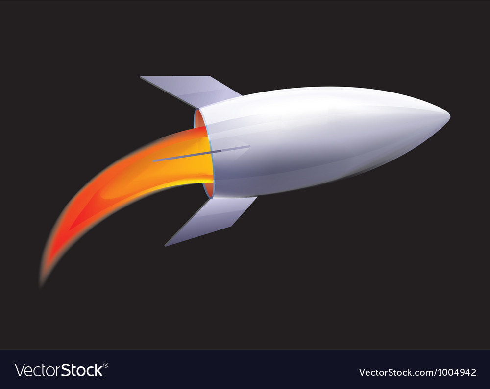Free future rocket vector