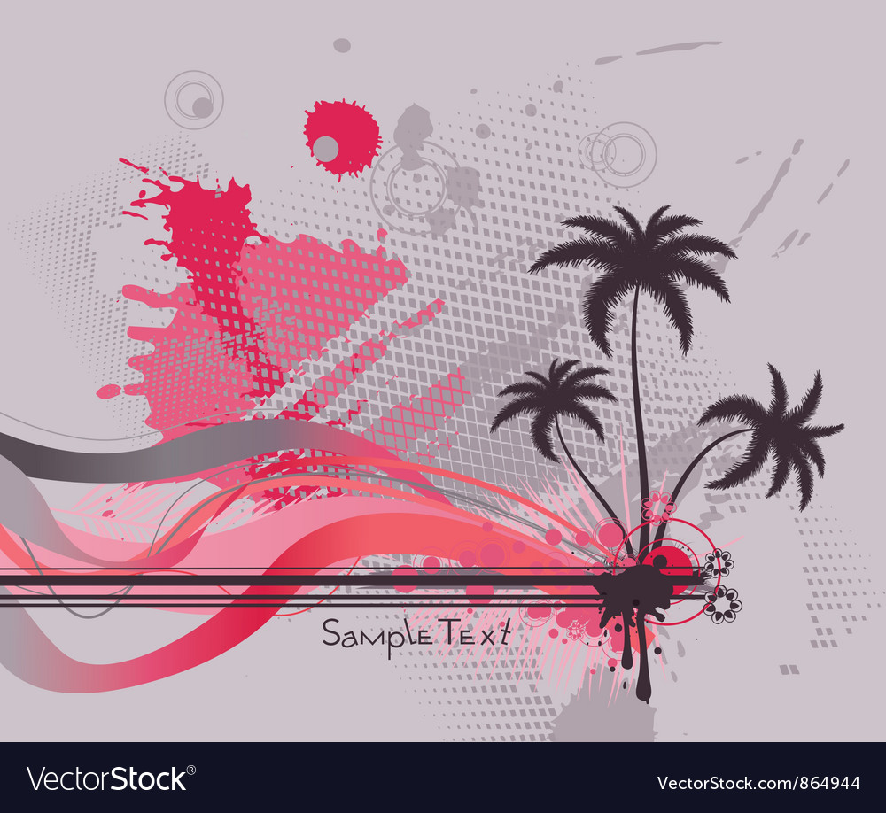 Grunge summer background vector