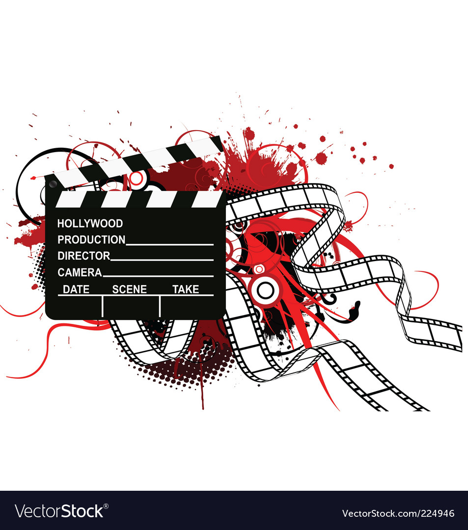 Movie theme background vector