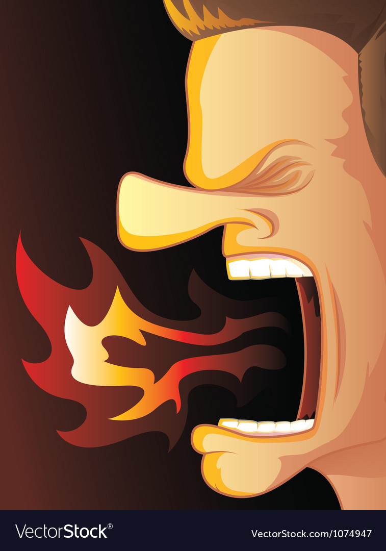 Angry fire vector