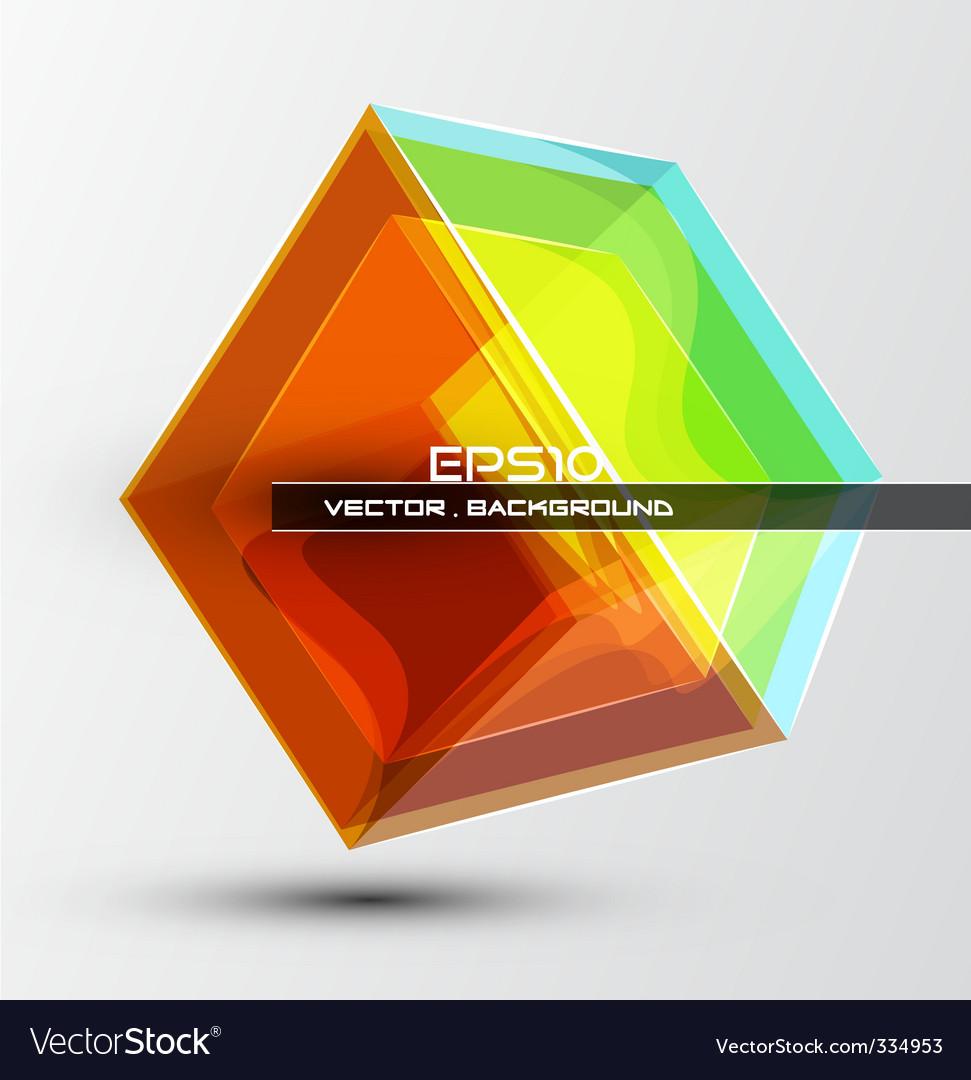 Futuristic dimensional boxes vector