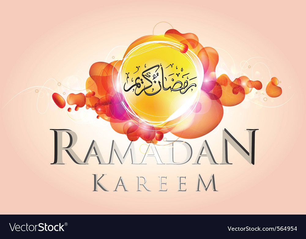 Abstract ramadan kareem vector