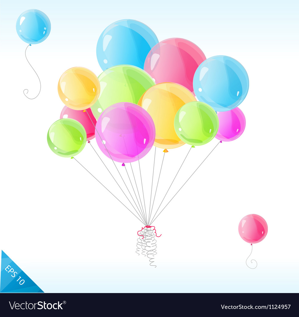 Bright balloons vector