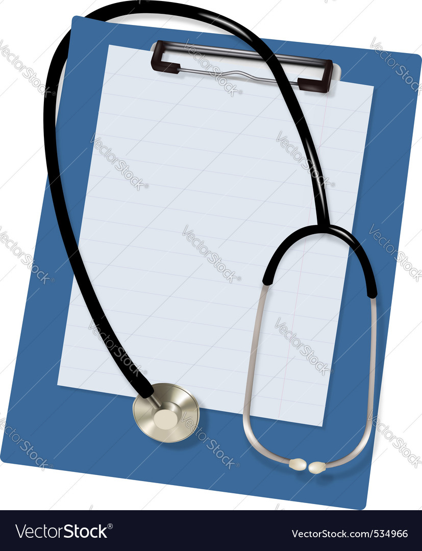 Stethoscope and blank vector