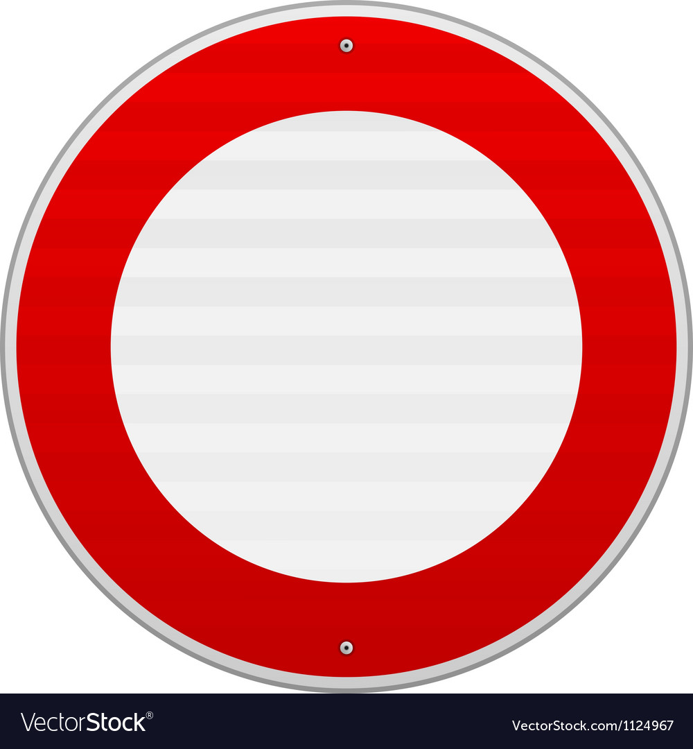 No traffic red sign vector