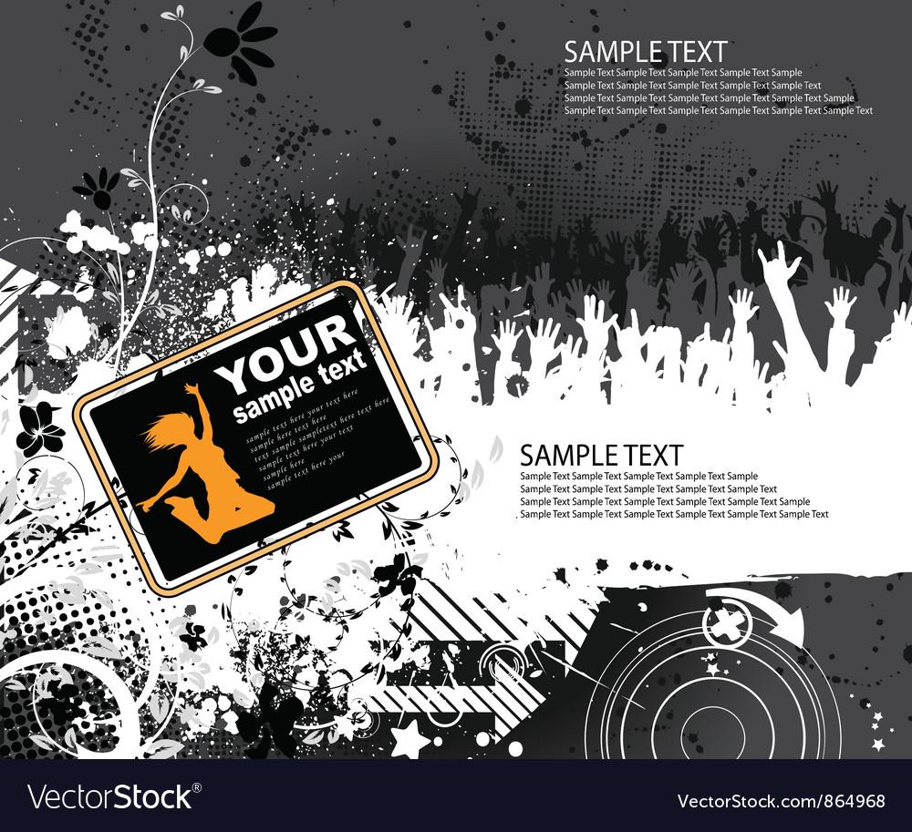 Concert poster vector