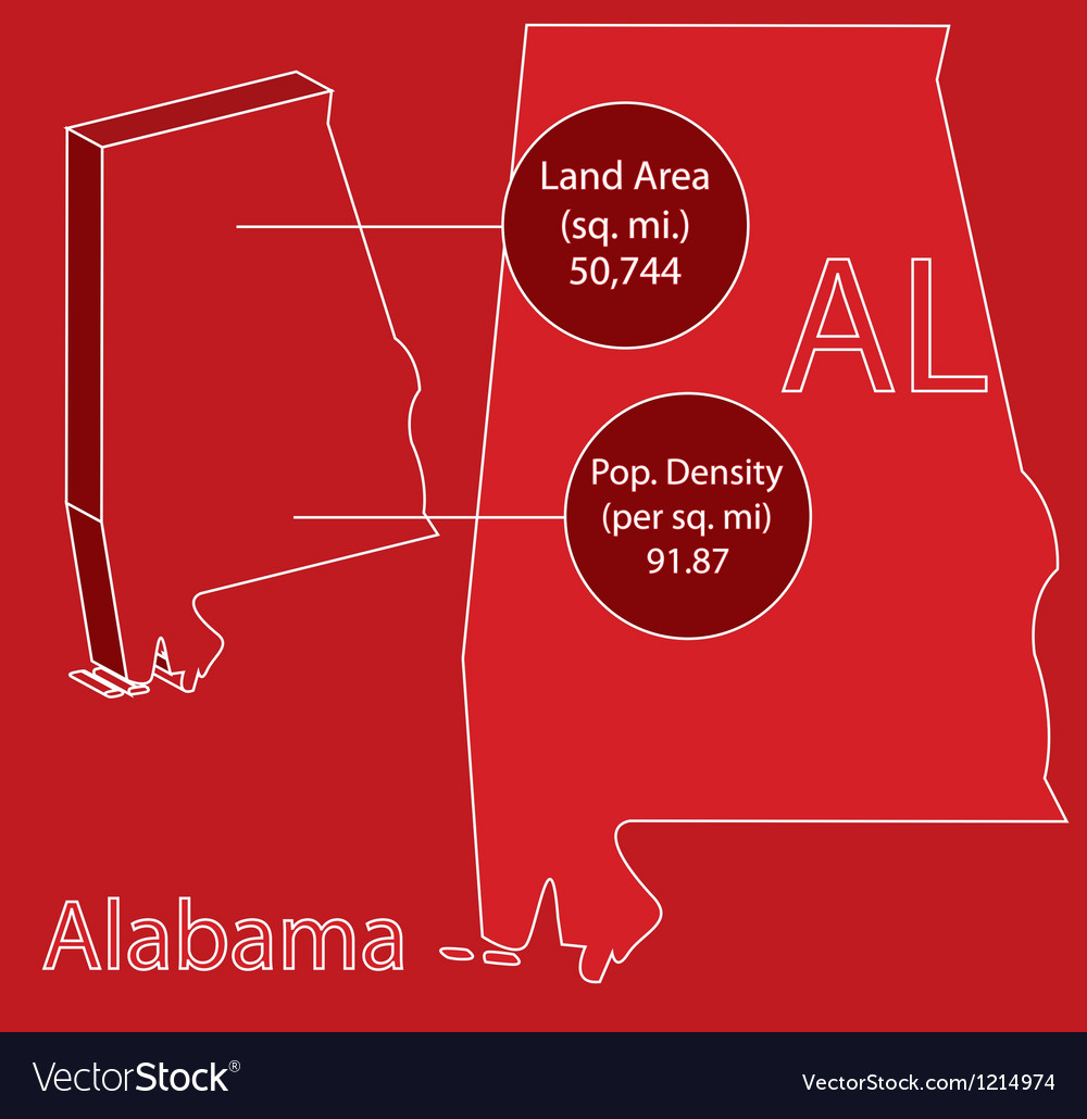 Alabama 3d info graphic vector