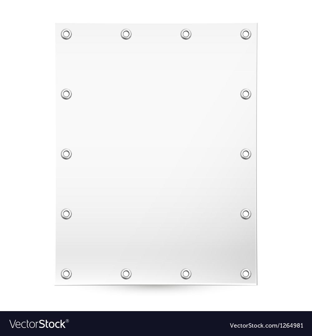 Blank white banner vector