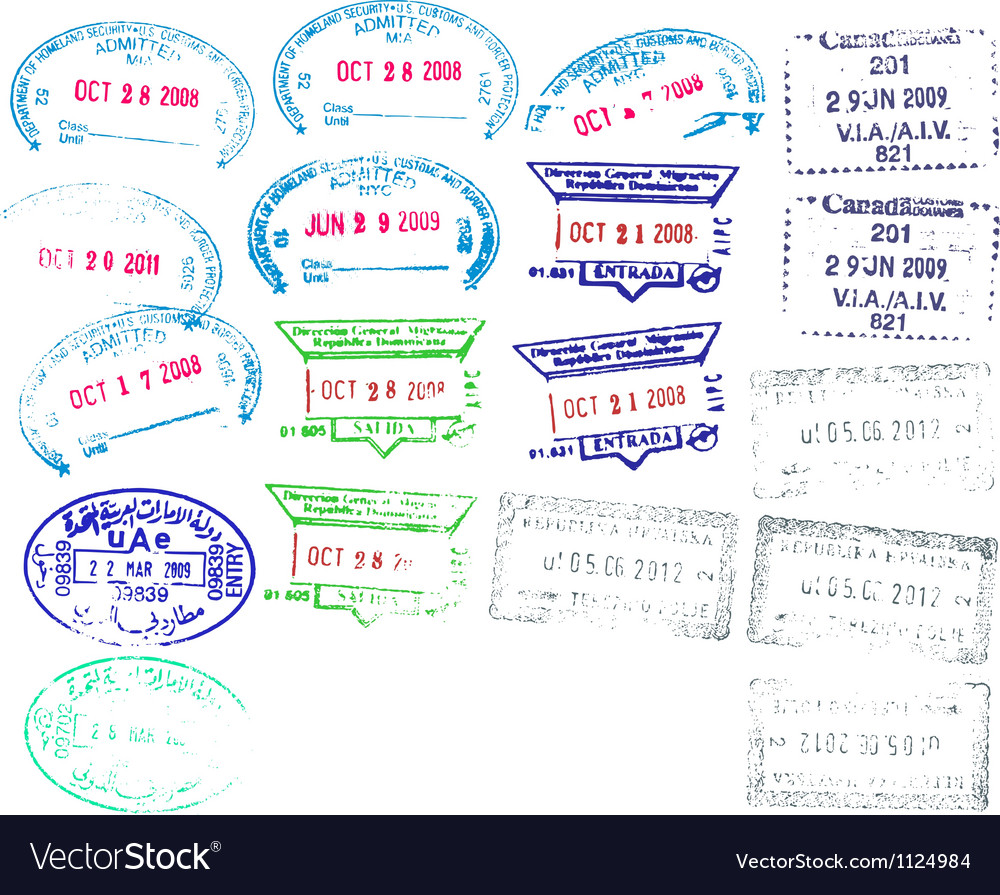 Border stamps vector