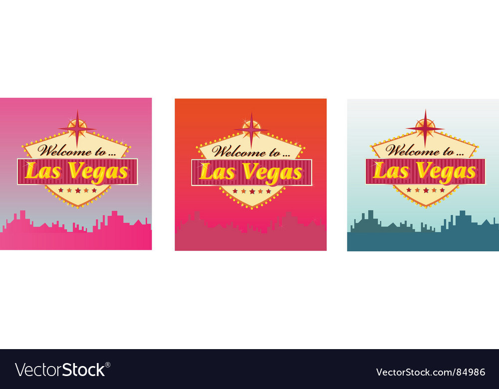 Welcome to lass vegas vector